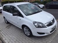 Vauxhall Zafira 1.6 i VVT 16v Design 5dr PCO STICKER WITH 12 MONTH MOT 2012 (12 reg), MPV