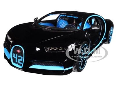 Bugatti Chiron 42 Black Limited Edition 1 18 Diecast Model Car By Bburago 11040