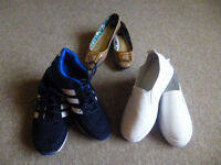 For sale.... All 3 pairs of ladies used shoes... £12.00 the lot!!!!
