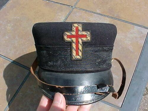 ORIGINAL ANTIQUE MASON MASONIC HAT / CAP
