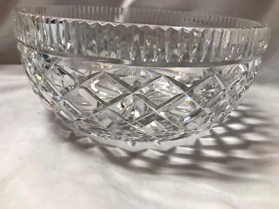 Vintage Waterford Wedge And Diamond Crystal Bowl New Made in Ireland