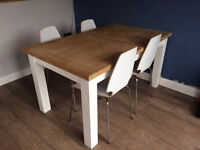 KITCHEN TABLE- EXTENDABLE AND 4 CHAIRS