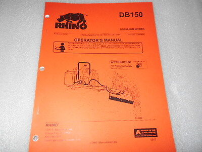 Rhino Alamo Db150 Boom Arm Mower Operators Manual