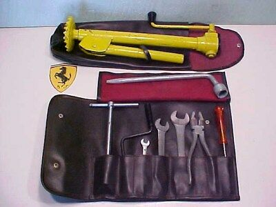 Ferrari 246 Dino Tool Kit Jack Roll Bag Tools_Pliers_Wrenches_Yellow Poll Jack