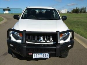 2016 Mitsubishi Triton GLX+ White Manual Dual Cab Utility South Geelong Geelong City Preview