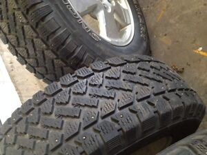 235 / 70 / 16 Studded Tires on Alloy Rims