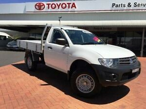 2012 Mitsubishi Triton MN MY12 GL White 5 Speed Manual Cab Chassis Dubbo Dubbo Area Preview