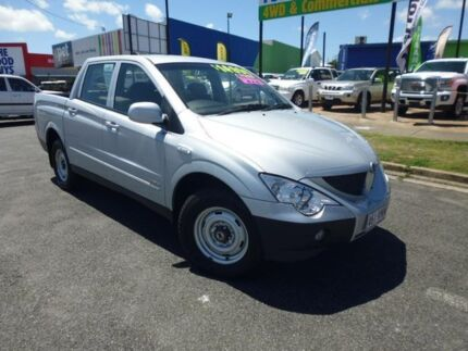 2010 Ssangyong Actyon Sports 100 Series MY11 Sports Silver Manual Utility Bungalow Cairns City Preview
