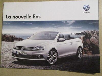 CATALOGUE AUTO : VW VOLKSWAGEN : LA NOUVELLE EOS 01/2011