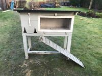 Painted hutch suitable for rabbits, small furries or hatching chicks