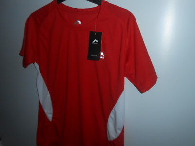 More Mile Verona Short Sleeve Women T-Shirt Red & White Size: 10 / NEW WITH TAGS