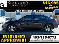 2014 Chrysler 200 S $129 bi-weekly APPLY NOW DRIVE NOW