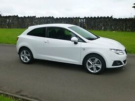 2011 SEAT IBIZA 1.6 DIESEL SPORT 3 DR ONLY 49000 MILES FINANCE AVALIABLE