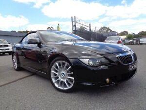 2005 BMW 645Ci E63 Black 6 Speed Auto Steptronic Convertible Pooraka Salisbury Area Preview
