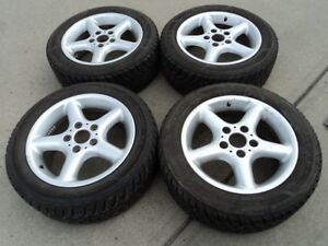 4 Goodyear Winter Tires with Rims for BMW              205/55/16