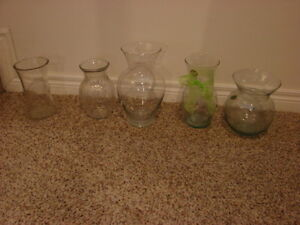 Various Glass flower vases