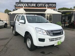 2016 Isuzu D-MAX TF MY15.5 SX (4x4) White 5 Speed Automatic Crew Cab Chassis Morayfield Caboolture Area Preview