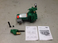 Myers 3/4 HP deep well jet pump with injector set.