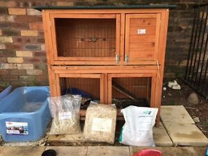 Rabbit Hutch with food, hay and pellets North Turramurra Ku-ring-gai Area Preview