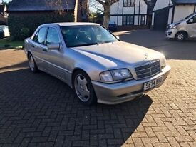 Mercedes W202 C280 C43 AMG Automatic Full Sport Leather Lowered Drives Like New 1 Year M.O.T 2 Keys