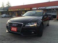 2012 Audi A4 Quattro, Accident Free, Black On Black, low KM !!