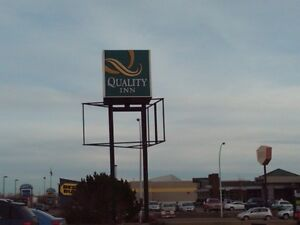 Large Exterior Cube Sign