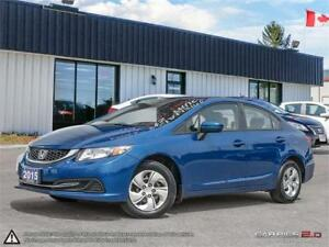 2015 Honda Civic Sedan LX,ECON,REARVIEW CAM,B.TOOTH,HEATED SEATS