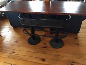 Sophisticated designer bar height table