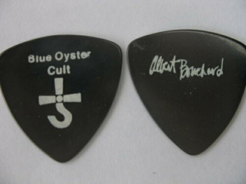 RARE BLUE OYSTER CULT BLACK  ALBERT BOUCHARD VINTAGE  REAL TOUR GUITAR PICK #2