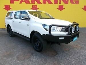 2016 Toyota Hilux GUN126R SR White 5 Speed Automated Dual Cab Winnellie Darwin City Preview