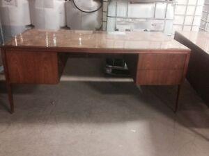 Hardwood desk