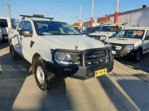2014 Ford Ranger PX XL 2.2 (4x4) White 6 Speed Automatic Crew Cab Utility Granville Parramatta Area Preview