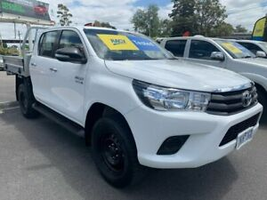 2017 Toyota Hilux GUN126R SR Double Cab White 6 Speed Manual Cab Chassis Lilydale Yarra Ranges Preview