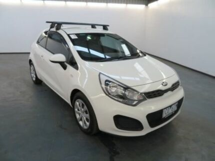2014 Kia Rio UB MY14 S Clear White 4 Speed Automatic Hatchback Albion Brimbank Area Preview