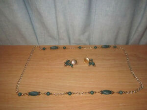 Fashion Jewelry Neckless & Matching Clip on Earring