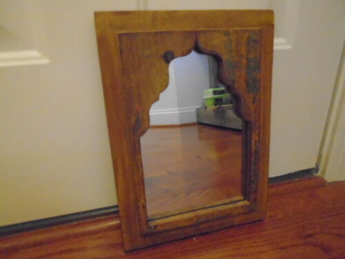 Antique Vintage Indian Arched Mirror Original Arch India 13 inches by 9.5 in