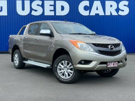 2014 Mazda BT-50 UP0YF1 XTR 4x2 Hi-Rider Sparkling Gold 6 Speed Sports Automatic Utility Bungalow Cairns City Preview