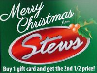 BUY ONE GIFT CARD AND GET THE SECOND FOR HALF PRICE!