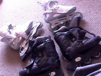 Mint shape his and hers roller blades