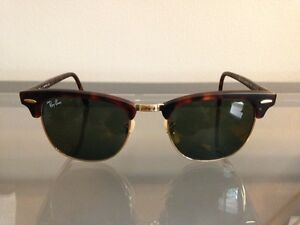 Ray-Ban Clubmaster Tortoise/Gold Sunglasses