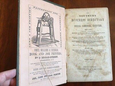 Rare 1854 Southern Business Directory  Georgia  Texas  Florida  Tennessee  Al Ms