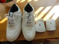 Pair of ladies golf shoes never been worn size 5 in excellent condition, white colour
