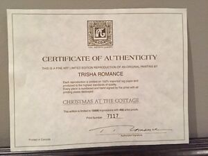 """Christmas at the Cottage"", Tricia Romance #7117 of 15,000 London Ontario image 2"
