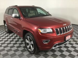2015 Jeep Grand Cherokee OVERLAND/5.7L HEMI/LEATHER HEATED AND C