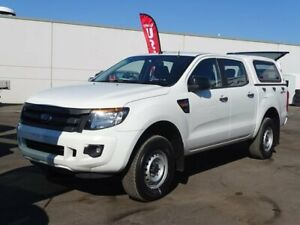 2015 Ford Ranger PX XL Double Cab 4x2 Hi-Rider White 6 Speed Manual Utility Albion Park Rail Shellharbour Area Preview