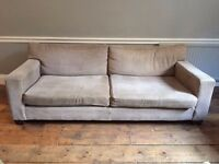 2-seat grey fabric sofa