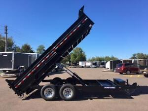 "NEW 2019 SURE-TRAC 82"" x 16' HD DUMP TRAILER"
