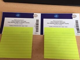 ROD STEWART Tickets (2), 02 London Mon 12 DEC 16 (Block 103, Row P) GREAT VIEW