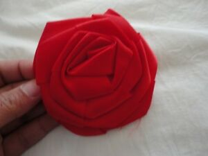Brand new handmade red rose floral pin brooche button London Ontario image 1