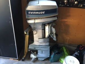 50 hp Evinrude for parts lower end good. Starter removed.